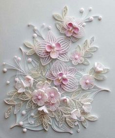 Pink quilling