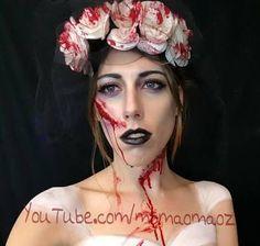 Image result for dead bride make up