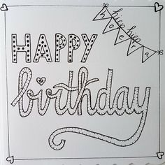 Happy birthday Handlettering