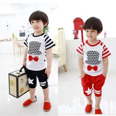 Cheap Clothing Sets, Buy Directly from China Suppliers:1lot =5 set (t shirt + pants)   one color * (90-100-110-120-130)   size 90-100-110-120-130   color: black ,red &nb
