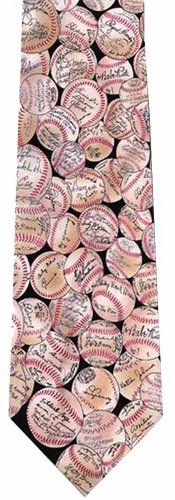 http://www.yourneckties.com/museum-artifacts-baseball-signature-silk-necktie/