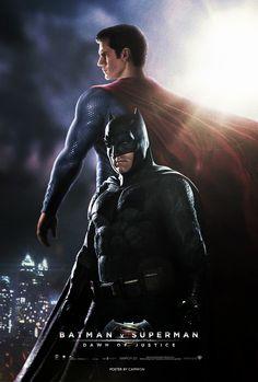 Batman V Superman (2016) - Fan Poster by CAMW1N   #batmanvsuperman   #kurttasche  #successwithkurt