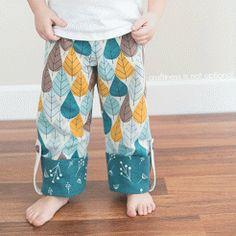 Free PDF Pattern & Tutorial: Charley Harper Pajama Pants