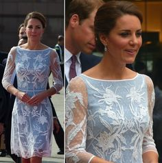 Duchess donned a style by Alice Temperley for tea at the British High Commissioner's residence in Kuala Lumpur. - September 2012