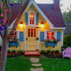 Beautiful Backyard Playhouse