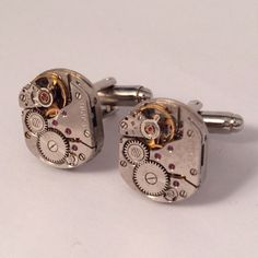 Men's Vintage Watch Movement Cuff Links, New Handcrafted Pair of Small Retro  Watch Parts Gears Red Jewels Cufflinks  Guys Gift on Etsy, $39.99