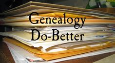 My Ancestors and Me: A Clean Start toward Doing Better #genealogy #gendover