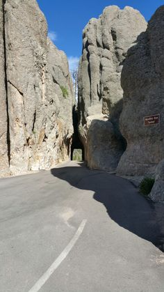 Tunnel on Needles Highway,  Custer State Park. South Dakota