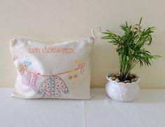 Embroidered Laundry Bags - Linen Lingerie Bag - Laundry Bags - Laundry Travel Bag - Cute Laundry Bag - Zippered Laundry Bag - Fitness Bag