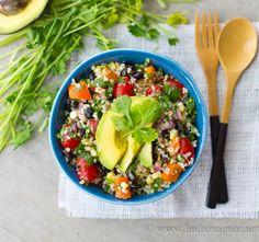 Vegan Burrito Bowl via Linda Wagner - easy, healthy, delicious!!