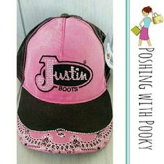 NWT Justin Boot Co. Rhinestone Hot Pink Cap Hat Adjustable. Embellished with clear rhinestone on the logo and edge of bill. Super cute! I have several so if you'd like more than one let me k ow and I will bundle. Sorry, no further discounting on this item. Retail $29.95 so you're getting a great deal! Justin  Accessories Hats