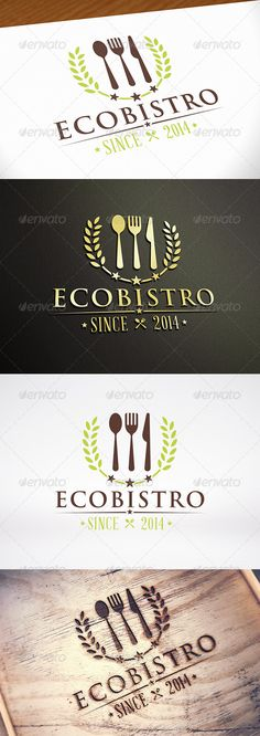 Natural Restaurant Logo Template Three color version: color, greyscale and single color. - The logo is resizable. - You can change text and colors very easy using the named and organized layers that includes the file. Fashion Design For Kids, Fashion Logo Design, Logo Restaurant, Logo Design Template, Logo Templates, Editorial Design Magazine, Wet Seal Fashion, Business Branding, Corporate Identity
