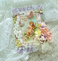 Beautiful card by Tanya Kalinina using Sweet Sentiments #graphic45 #cards