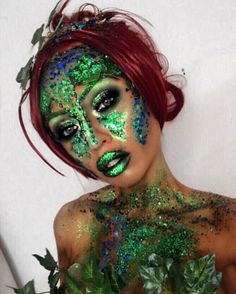 A round up of our favourite looks we created in 2016 - It's been a good year! Halloween Looks, Halloween Town, Halloween Face Makeup, Poison Ivy Makeup, Glitter Fashion, Festival Looks, Party Themes, Gypsy, Beautiful Women