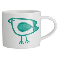 Jane Foster Mugs Buy Jane Foster Bird Mug, White/Green Online at johnlewis.com