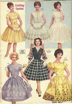 60s And 70s Fashion, Retro Fashion, Vintage Fashion, 1960s Dresses, Vintage 1950s Dresses, 1950s Style, Vintage Mode, Style Vintage, Vintage Outfits