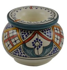 Ceramic Ashtrays Hand Made Smokeless Large Moroccan