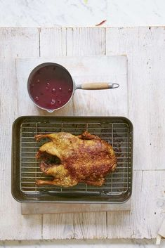 Mary Berry's recipe for Slow-Roast Duck with Port & Cherry Sauce from Classic Roast Duck, Slow Roast, Roasted Duck Recipes, Cherry Sauce, Xmas Dinner, Mary Berry, Sunday Roast, Sweet Sauce, Dinner Recipes