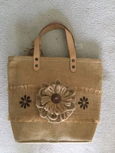 Items similar to Burlap Purse with stencils on Etsy Hessian Bags, Jute Tote Bags, Crochet Purse Patterns, Bag Patterns To Sew, Burlap Purse, Fabric Wallet, Diy Bags Purses, Sack Bag, Burlap Crafts