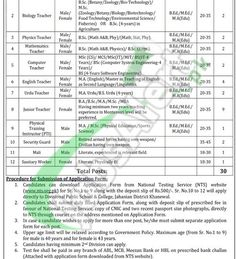 Fauji Foundation Model Schools Job All Pakistan January