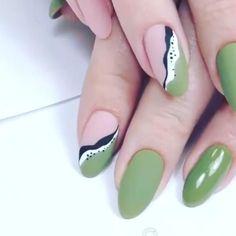 Nail Art Designs Videos, Nail Art Videos, Gel Nail Designs, Simple Nail Designs, Nails Design, Funky Nails, Cute Nails, Pretty Nails, Cute Nail Art