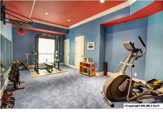 Color in exercise room.