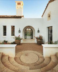 Mediterranean Architecture, Spanish Architecture, Mediterranean Home Decor, Colonial Architecture, House Architecture Styles, Spanish Revival Home, Spanish Style Homes, Spanish Colonial Decor, Style At Home