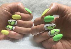 25+ yellow and green nail art