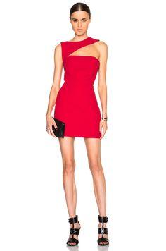 Image 1 of Jay Ahr Open Shoulder Dress in Red