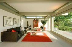 idee feng shui jardin deco zen salon contemporain baie vitree desig