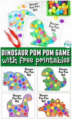 Are you looking for a fun activity to do with your kids? These Dinosaur Color Matching Mats for preschool kids are so fun! Dinosaurs For Toddlers, Dinosaur Books For Kids, Dinosaurs Preschool, Preschool Age, Preschool Learning, Preschool Crafts, Dinosaur Dinosaur, Kids Dinosaur Games, Dinosaur Crafts For Preschoolers