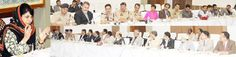 Chief Minister Mehbooba Mufti presiding over a meeting on traffic awareness in Srinagr on Friday.
