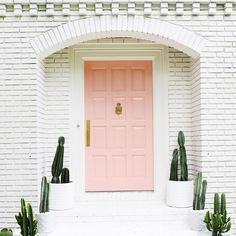 Who doesn't want a pink door?