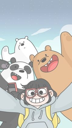 Colección de fondos de pantalla Escandalosos Kawaii Polar, Panda y Pardo para c. Cute Disney Wallpaper, Kawaii Wallpaper, Cute Wallpaper Backgrounds, Wallpaper Iphone Cute, Galaxy Wallpaper, Wallpaper Lockscreen, We Bare Bears Wallpapers, Panda Wallpapers, Cute Cartoon Wallpapers