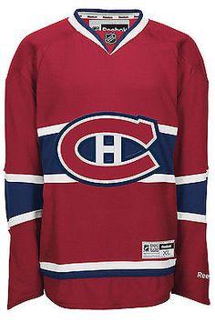 34ae4aca358 Montreal CANADIENS RBK NHL Premier Jersey sz L 100% Original Guaranteed  Custom Hockey Jerseys,