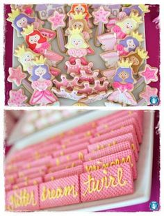 fancy nancy cookies   (Write fancy words on the cookies :)