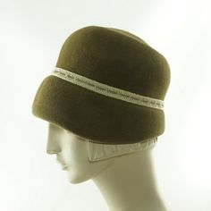 Brown CLOCHE HAT for Women Vintage Style Hat by TheMillineryShop