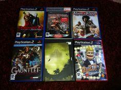 Playstation 2 inkl. handkontroll, 4st zappkontroller för frågesportspelet, och spelen ovanför 400kr