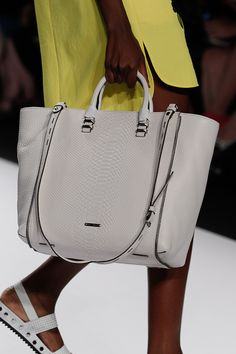 Rebecca Minkoff Perry Tote in White Python Embossed Leather