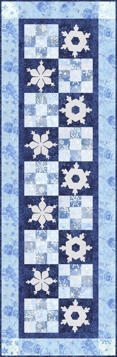 Timeless Treasures: Jack Frost - FREE Patterns for Premium Members Only - Quilters Club of America Quilting Tutorials, Quilting Ideas, Quilt Patterns, Snowflake Quilt, Snowflakes, Winter Quilts, Jack Frost, Amish, Wall Hangings