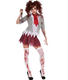 Disfraz de estudiante zombie para nia Disfraces Halloween para