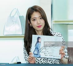 South Korean actress Park Shin-Hye attends the autograph session for Bruno Magli on May 15, 2015 in Seoul, South Korea.