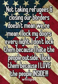 All you liberals should just leave your doors unlocked with a welcome sign in your front yard!!!