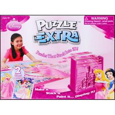 Puzzle Extra—the Puzzle that Stacks into 3D! Make it, Stack it, Paint it, Display it! Make the two giant Disney Princess 2-D puzzles to reveal the 3-D stacking sequence. In just minutes, builds a fantastic 3-D scene that is ready to paint and display.  $19.99  http://www.calendars.com/Disney/Disney-Princess-Puzzle-Extra/prod201100012754/?categoryId=cat00144=cat00144#