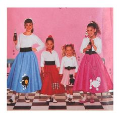 Items Similar To Teen Girls Poodle Skirt Costume Sewing Pattern
