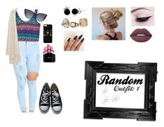 """""""Random Outfit: 1"""" by isabellasmall on Polyvore featuring Violeta by Mango, Converse, Lime Crime, Bling Jewelry, Fendi, Marc Jacobs and Uttermost"""