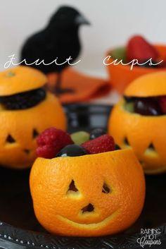 Make these healthy fun fruit jack o lanterns