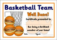 Team mom duties on pinterest baseball award for Basketball mvp certificate template