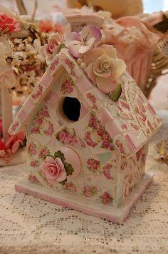 Mosaic bird house by bellawood, via Flickr