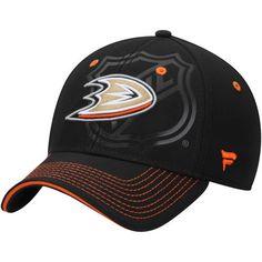 cheaper 65cdc a2589 Men s Black Anaheim Ducks Shield Flex Hat. Anaheim Ducks HatNhlBaseball ...